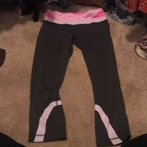 EUC align pants pink and charcoal
